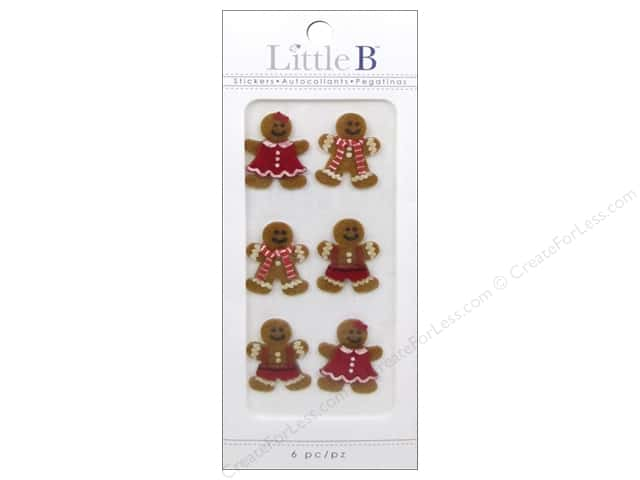Little B Sticker Mini Holiday Gingerbread Men