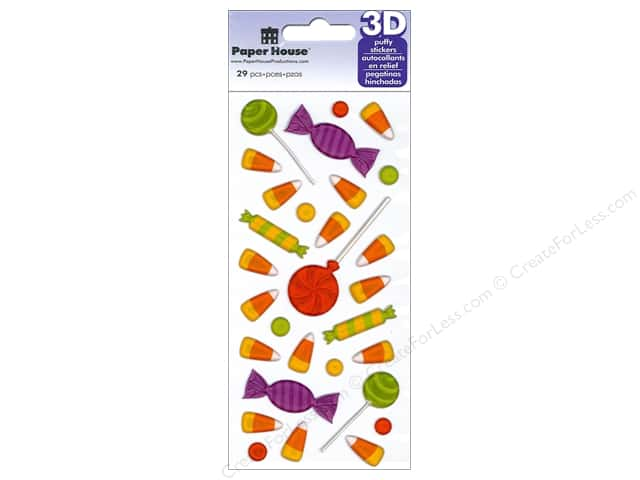 Paper House Sticker 3D Puffy Halloween Candy