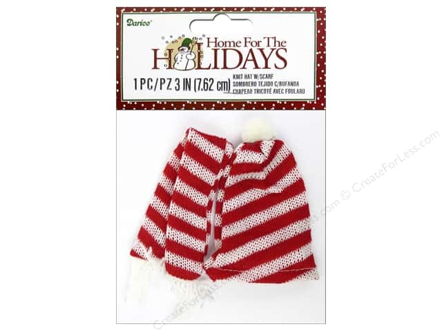 Darice Decor Holiday Snowman Knit Hat & Scarf Set 3""