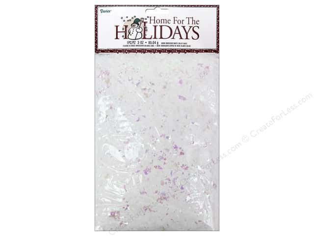 Darice Decor Holiday Snow With Iridescent Flakes 3oz White