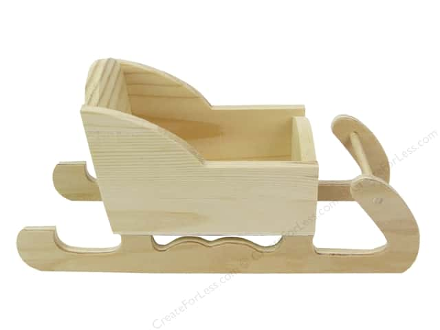 Darice Decor Wood Sleigh Pine 8.5""