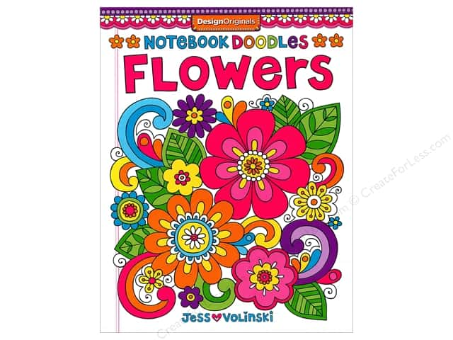 Design Originals Notebook Doodles Flowers Book