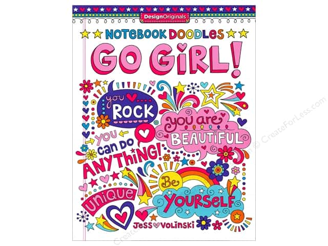 Design Originals Notebook Doodles Go Girl! Book