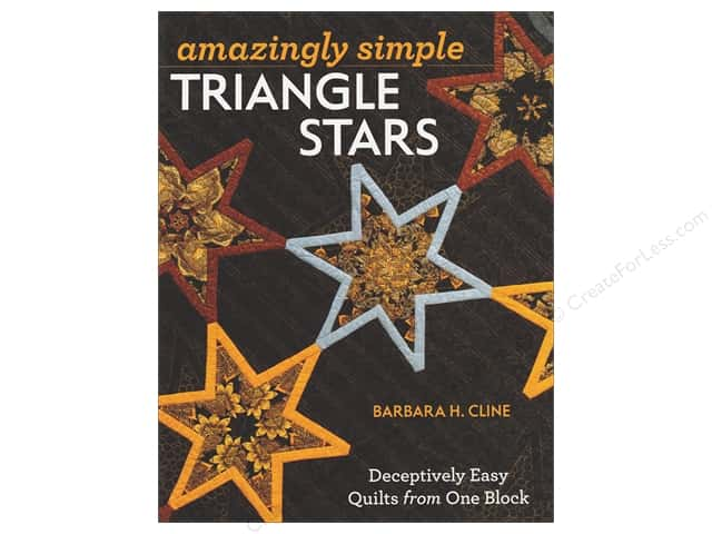 Amazingly Simple Triangle Stars Book by Barbara H. Cline