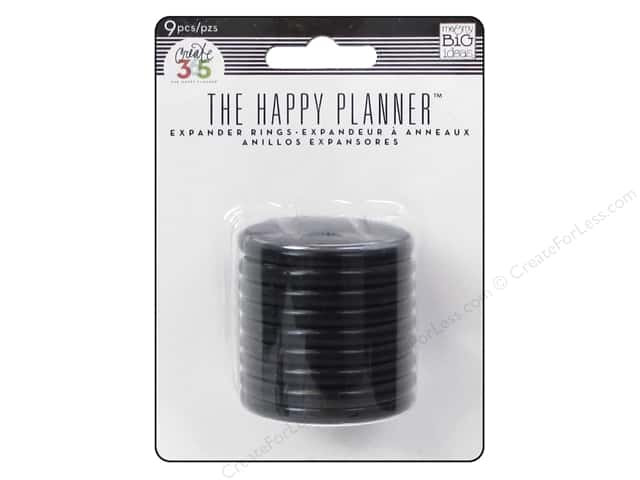 Me & My Big Ideas Create 365 The Happy Planner Expander Rings 9 pc. Black