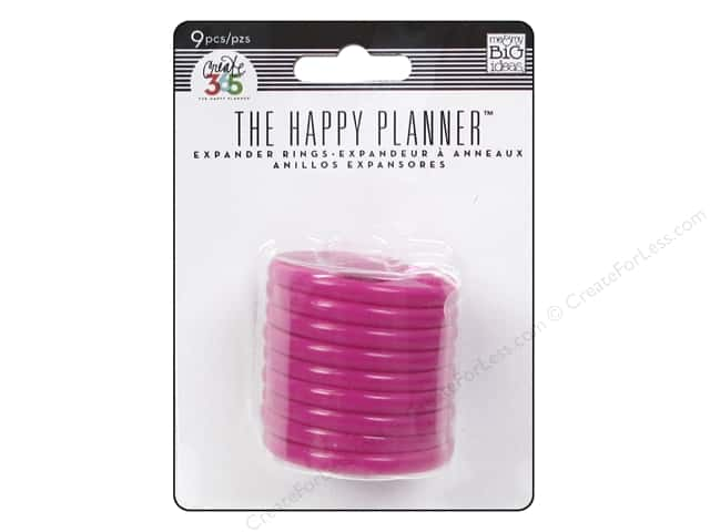 Me & My Big Ideas Create 365 The Happy Planner Expander Rings 9 pc. Pink