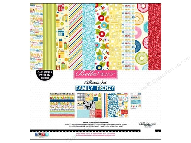Bella Blvd 12 x 12 in. Collection Kit Family Frenzy
