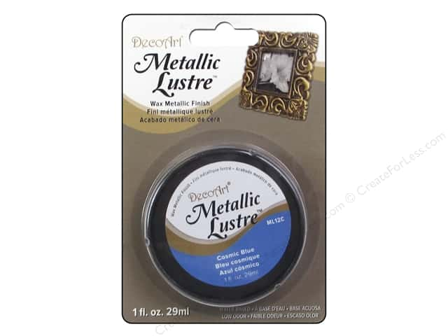 DecoArt Metallic Lustre - Cosmic Blue 1 oz.