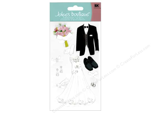 Jolee's Boutique Stickers Large Bride & Groom