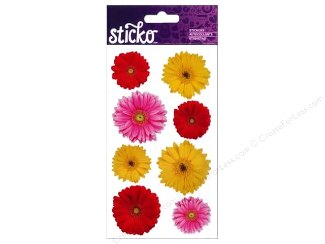 EK Sticko Stickers Photo Flowers Gerbera Mix