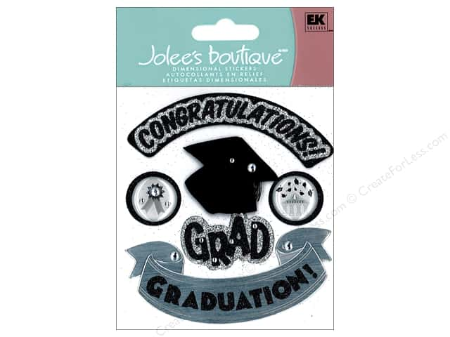 Jolee's Boutique Stickers Hats Off Grad