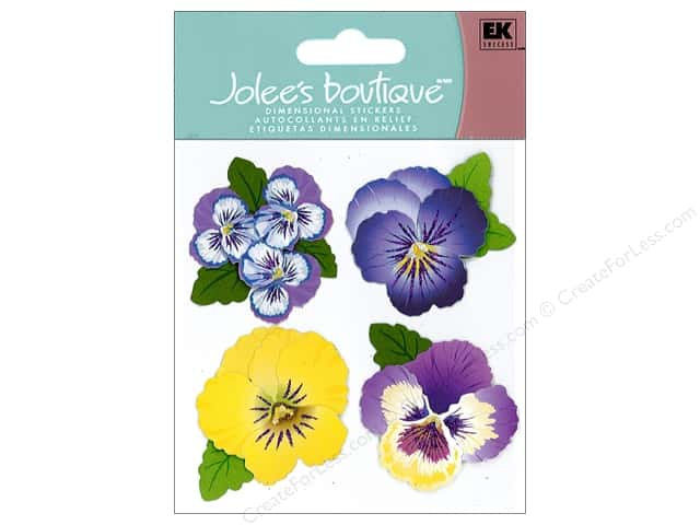 Jolee's Boutique Stickers Pansies