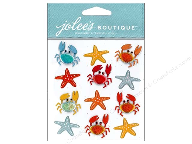Jolee's Boutique Stickers Crabs & Starfish Repeat