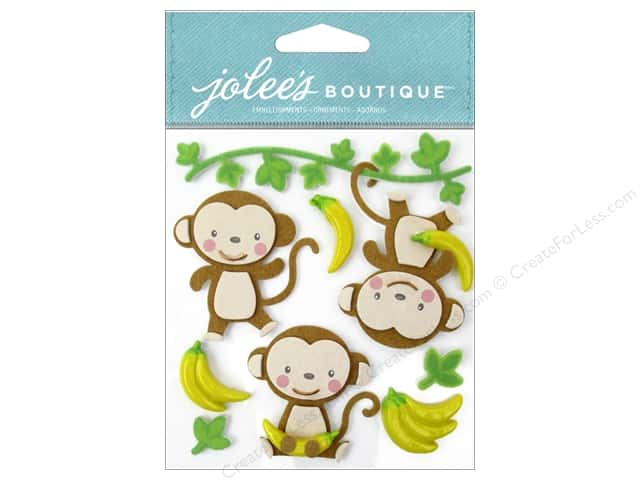 Jolee's Boutique Stickers Cutesy Monkeys