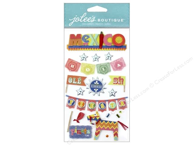 Jolee's Boutique Stickers Icons Mexico Words