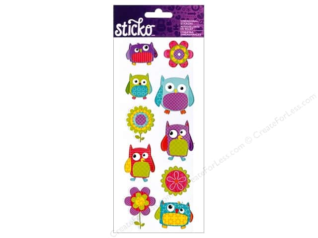 EK Sticko Stickers Flower Owl