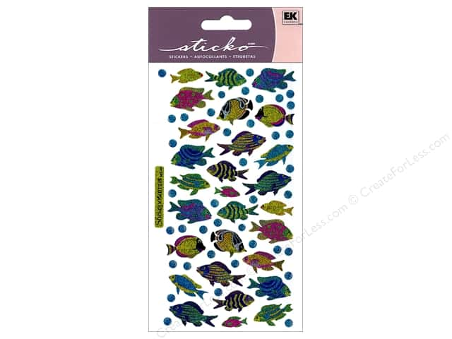 EK Sticko Stickers Funky Fish