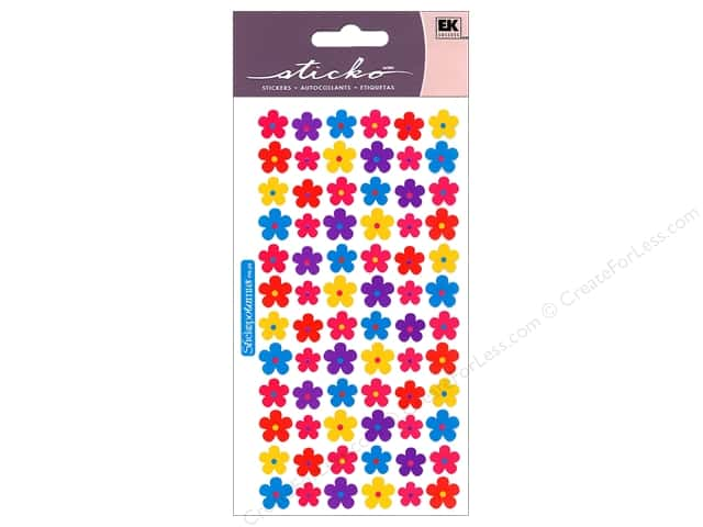 EK Sticko Stickers Mini Flowers