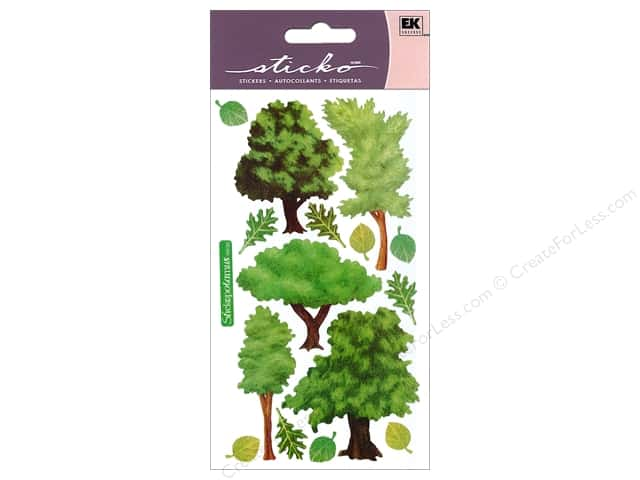 EK Sticko Stickers Vellum Trees