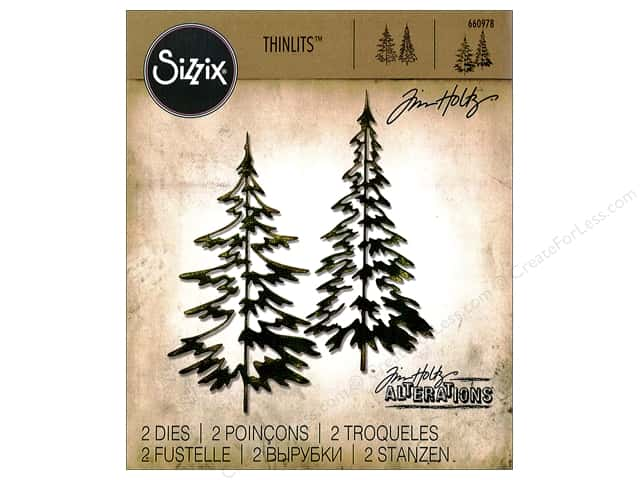 Sizzix Thinlits Die Set 2 pc. Woodlands