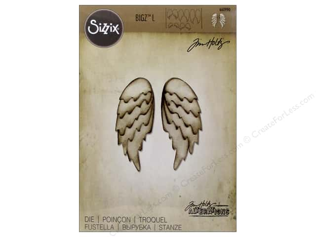 Sizzix Bigz Dies L Feathered Wings by Tim Holtz