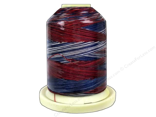 Signature 100% Cotton Thread 700 yd. #M13 Variegated Stars & Stripes
