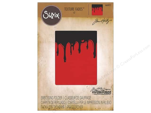 Sizzix Texture Fades Embossing Folders 1 pc. Dripping
