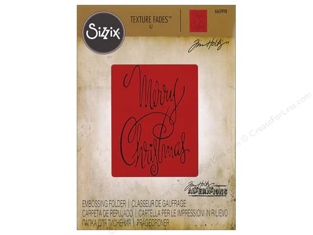 Sizzix Texture Fades Embossing Folders 1 pc. Fancy Christmas