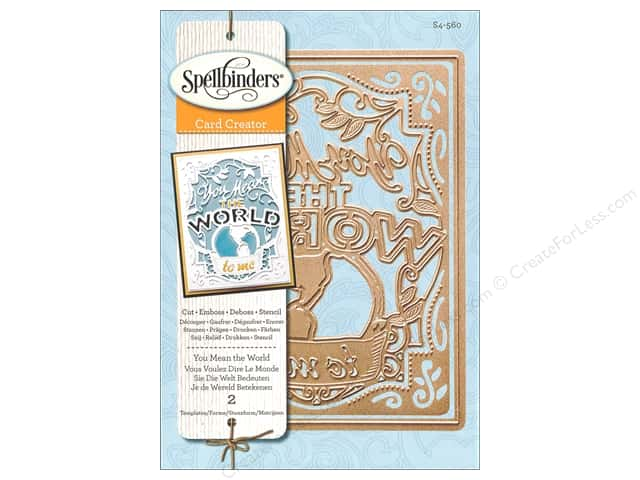 Spellbinders Card Creator Die You Mean The World