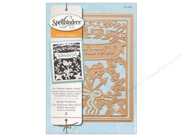 Spellbinders Die Card Creator Simply Wonderful