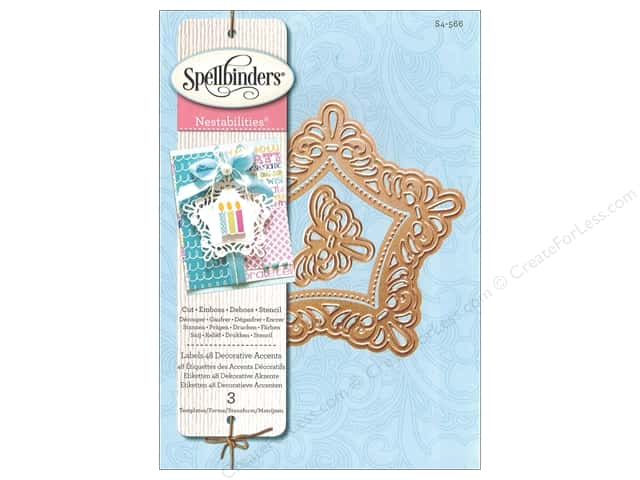 Spellbinders Nestabilities Die Labels 48 Accent