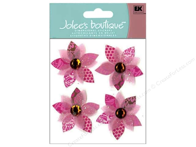 Jolee's Boutique Stickers Pink Cluster Flowers