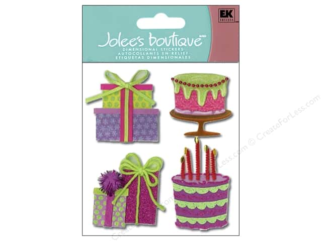 Jolee's Boutique Stickers Birthday Cakes & Presents