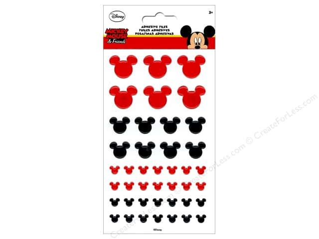 EK Disney Sticker Tile Mickey Icon Red/Black
