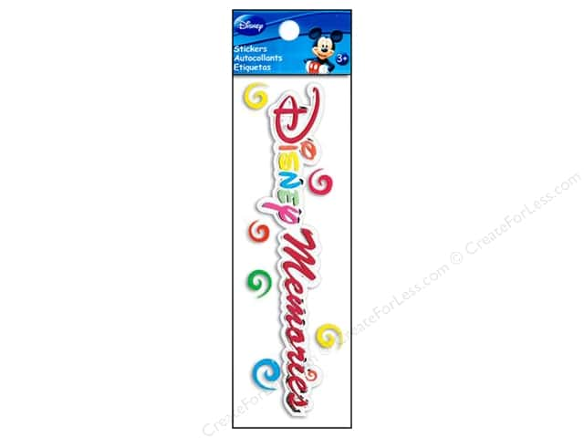 EK Disney Sticker 3D Title Memories