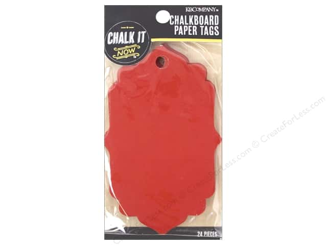 K&Company Chalk It Now Tag Paper Fancy Red