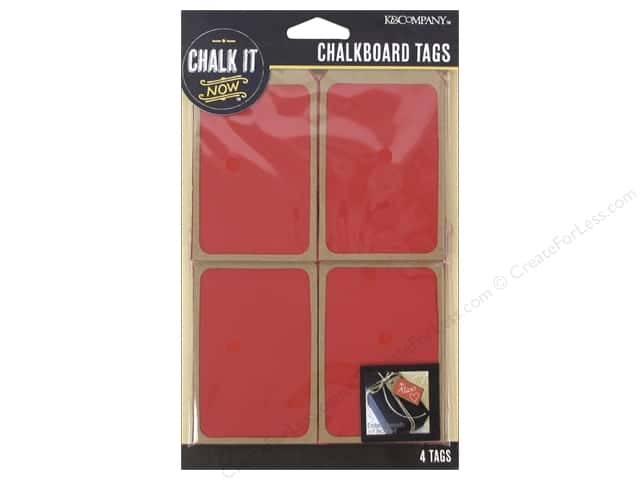 K&Company Chalk It Now Tag Wooden Red