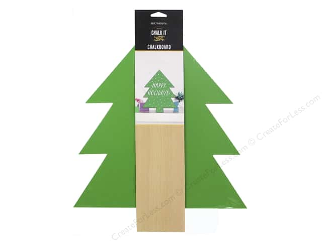 K&Company Chalk It Now Wooden Tree Green