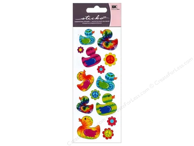 EK Sticko Stickers Tie Dye Ducks