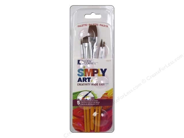 Loew Cornell Simply Art Brush Palette Pack 5pc