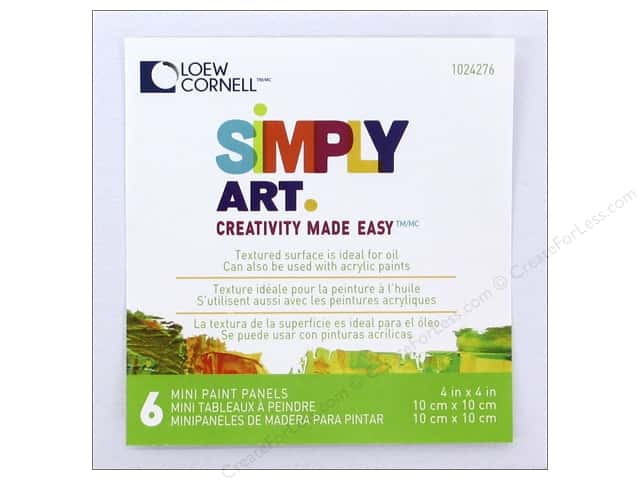 "Loew Cornell Simply Art Canvas Paint Panels 4""x 4"""
