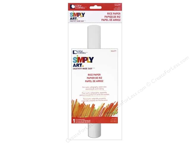 "Loew Cornell Simply Art Paper Roll Rice 12""x 120"""
