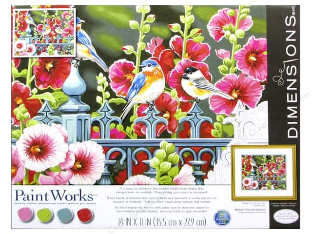 Paintworks Paint By Number Kit 14 x 11 in. Hollyhock Gate