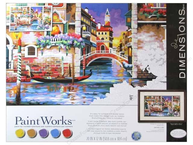 Paintworks Paint By Number Kit 20 x 12 in. Isn't It Romantic