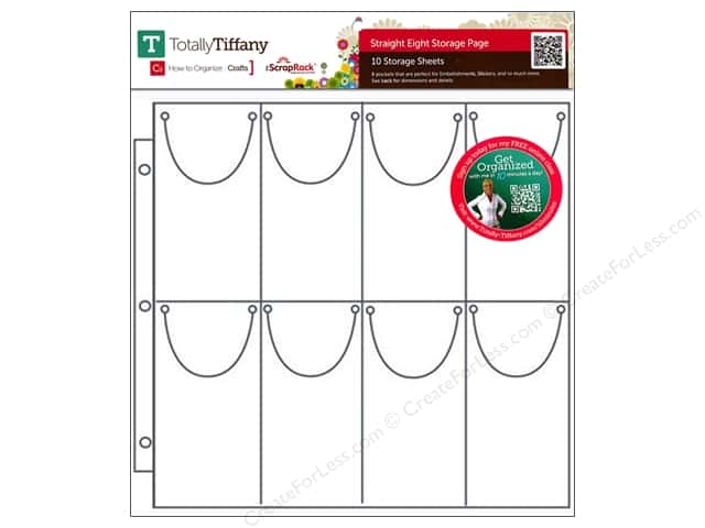 Totally Tiffany ScrapRack Basic Storage Pages Straight Eight 10 pc
