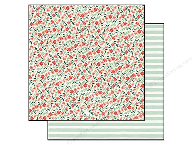 "My Minds Eye Collection Christmas On Market Street Paper 12""x 12"" Holly Boughs (25 sheets)"