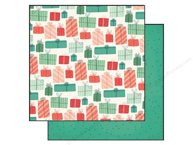 """My Minds Eye Collection Christmas On Market Street Paper 12""""x 12"""" Tied Up With String (25 sheets)"""