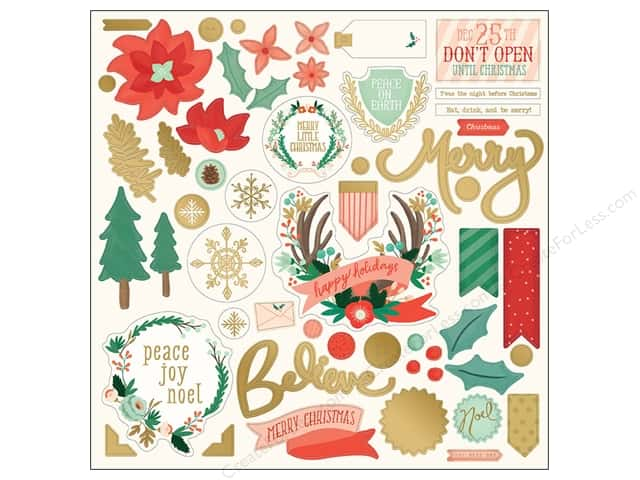 My Minds Eye Collection Christmas On Market Street Chipboard Elements