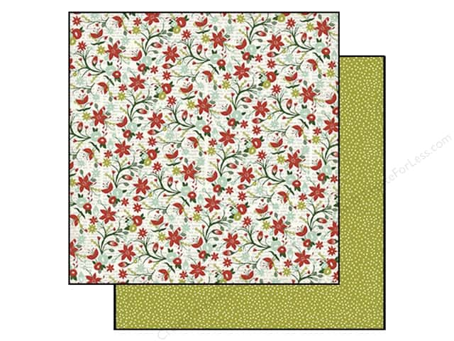 """My Minds Eye Collection Cozy Christmas Paper 12""""x 12"""" Poinsettia (25 sheets)"""