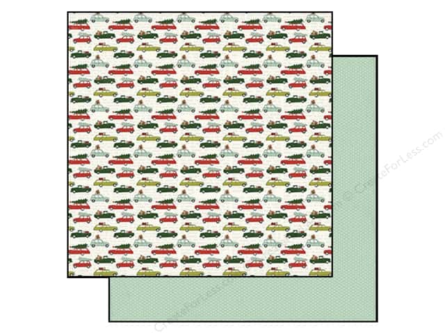 "My Minds Eye Collection Cozy Christmas Paper 12""x 12"" Shopping (25 sheets)"